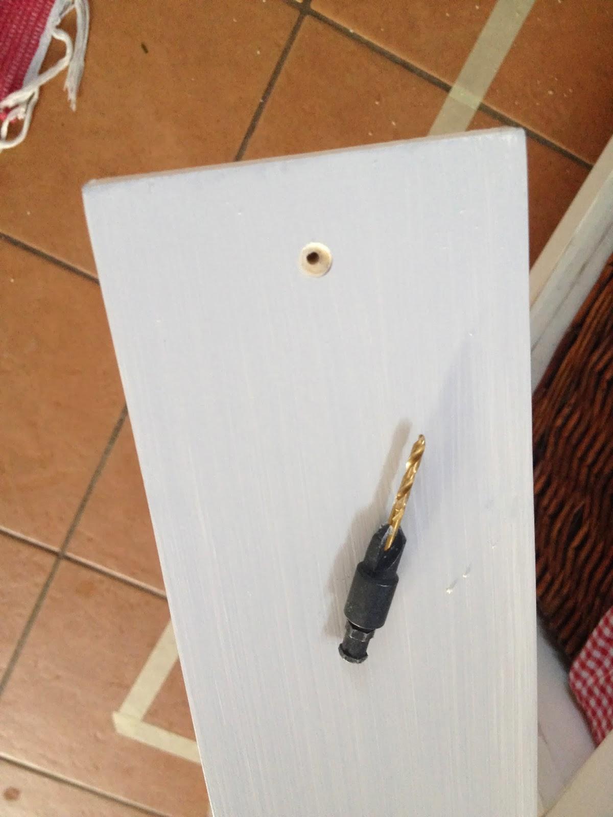 predrill countersunk holes