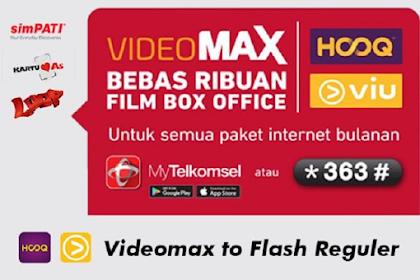 Cara Mengubah Kuota VideoMax jadi kuota Reguler