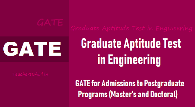 gate 2019 for pg master's,doctoral program admissions,registrations start from september 1,gate 2019 exam dates,gate admissions,gate online application form