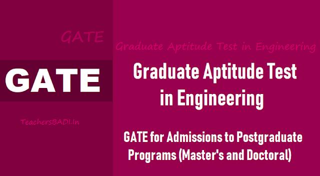 gate 2020 for pg master's,doctoral program admissions,registrations start from september 1,gate 2020 exam dates,gate admissions,gate online application form