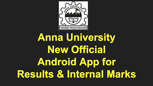 Anna University Developing New Android App to publish Nov Dec 2019 results