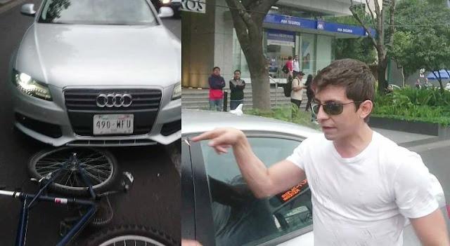 Revelan identidad de conductor de Audi que atropelló a ciclista y golpeó a policía