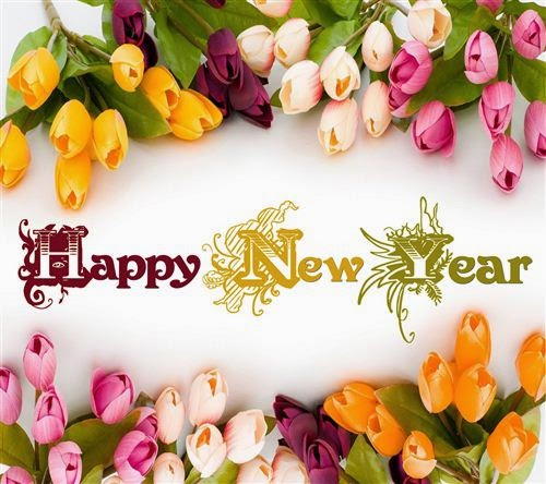Very Nice Happy New Year Flowers Wallpapers