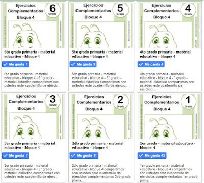 material educativo - bloque 4 - primaria - todos los grados
