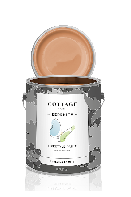 new Cottage Paint can, Serenity, monarch