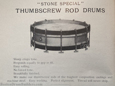 Early 1910s George B. Stone & Son Drum Catalog