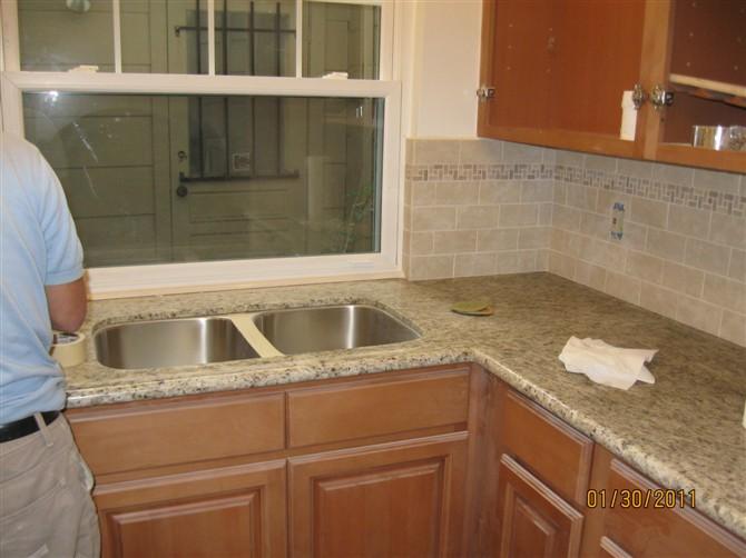 Kitchen Remodel Dallas Mirrored Backsplash Houston Remodeling 休斯顿张先生家厨房改造 理石台面的安装 地砖 发帖者 休斯敦大连装修 时间 下午3 28