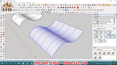 Mặt cong trong sketchup