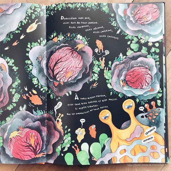 Album jeunesse : Grenouilles voraces & grasses limaces