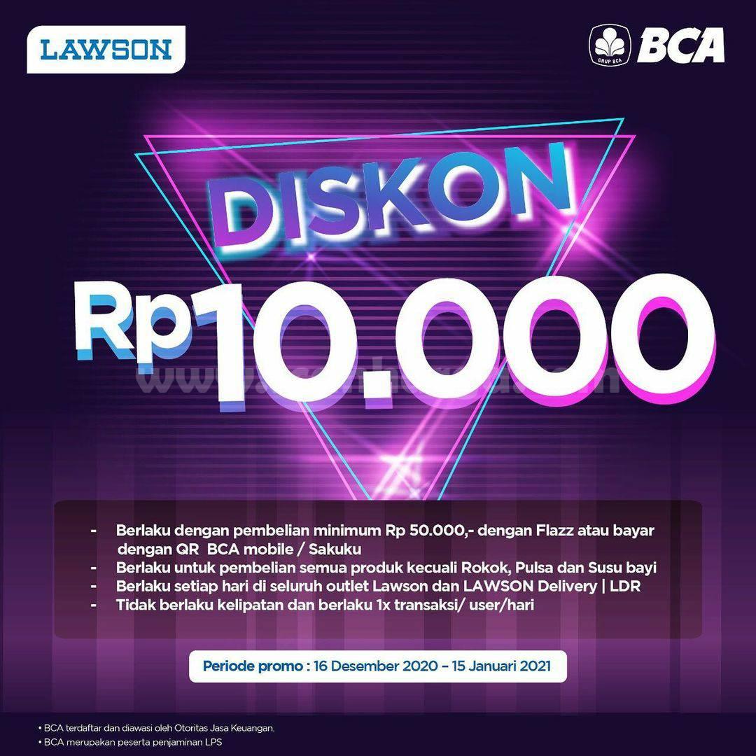 LAWSON Promo DISKON Rp 10.000 – dengan QR BCA Mobile  Sakuku
