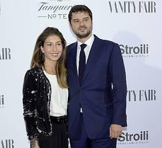 Domitilla Dotti with her husband Luca Dotti