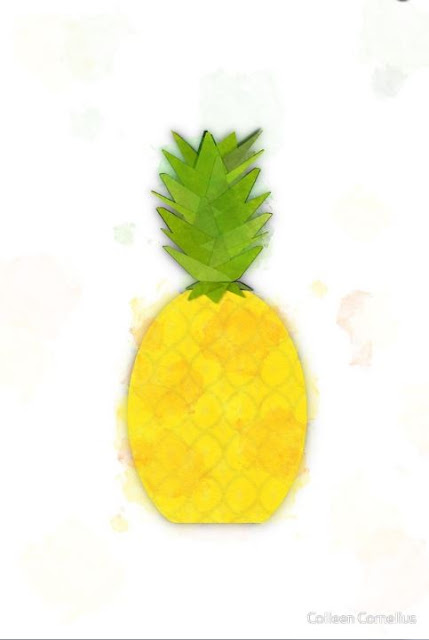 Tropical Pineapple Digital Watercolor on Prints, Pillows & More!!