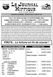 programme quinté Pronostic dimanche 19/09/2021
