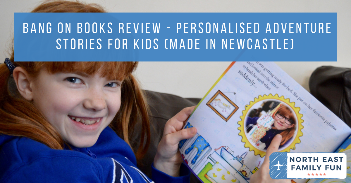 Bang on Books Review - Personalised Adventure Stories for Kids (made in Newcastle) - choose your little hero