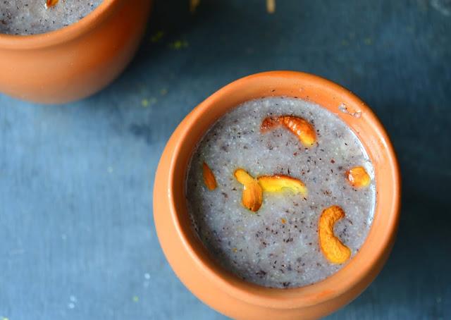 Black rice dessert | Kavuni Arisi payasam