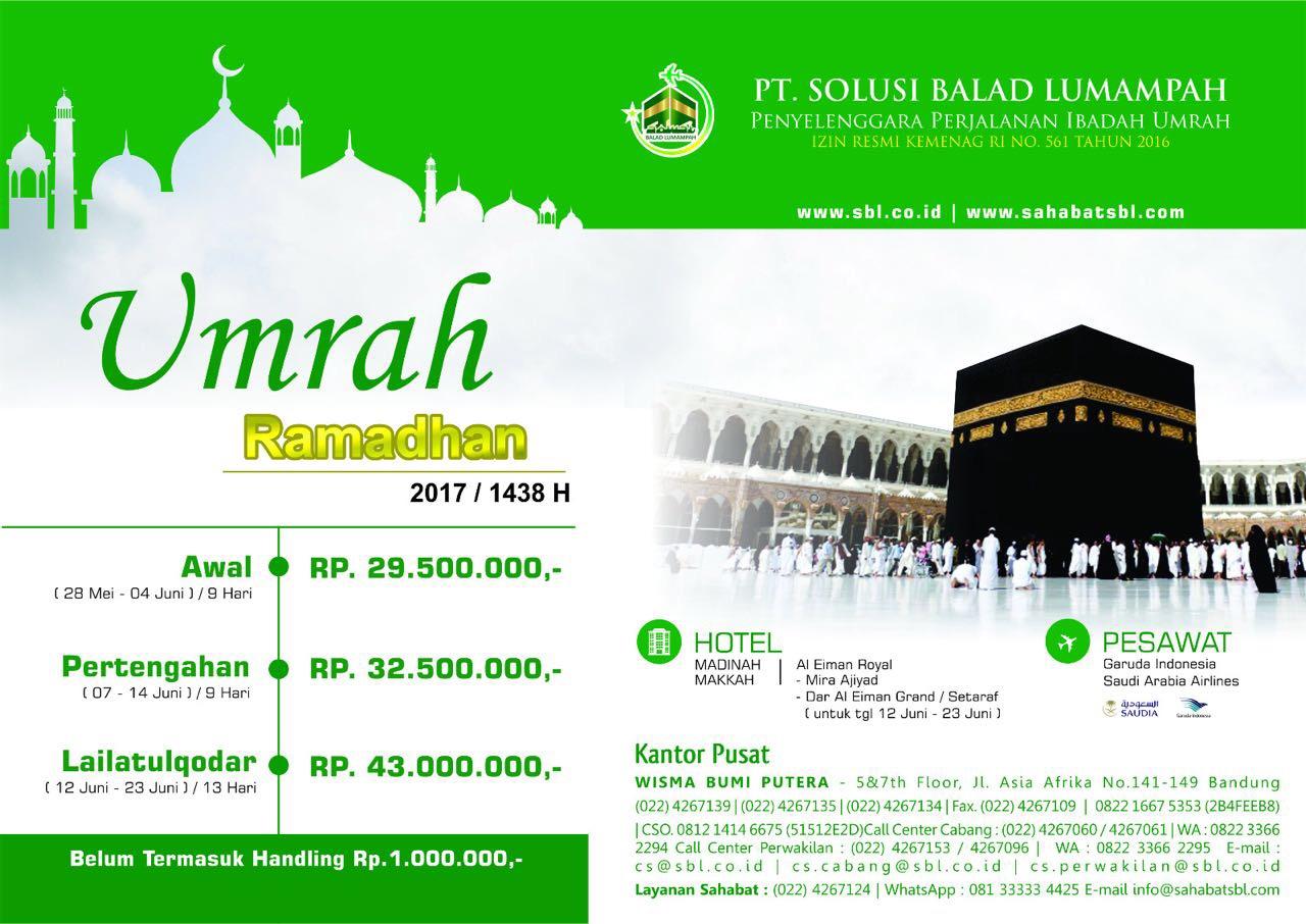 Harga Paket UMRAH Ramadhan 2017