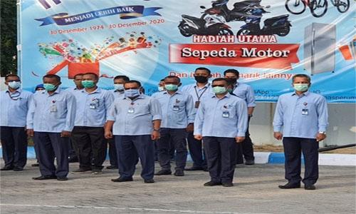 Dirut Perumda AM Kota Kata Padang ,lepas Karyawan/ti Purna Tugas dengan Cincin