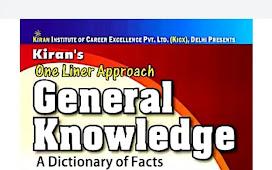 Kiran One Liner GK pdf