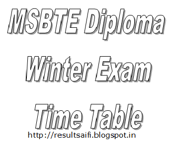 MSBTE Winter Time Table/ Date Sheet 2014-15 Download msbte