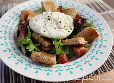 Featured Recipe // Breakfast Salad from My Hobbie Lobbie #SecretRecipeClub #recipe #breakfast