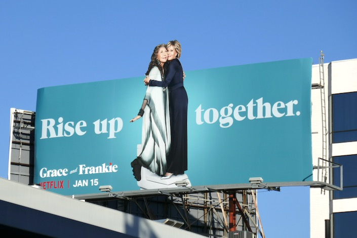 Grace and Frankie season 6 extension billboard