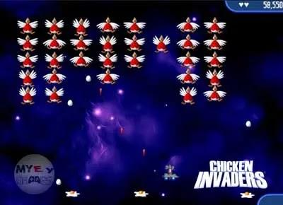 تحميل لعبة الفراخ الحمراء 2 Chicken Invaders من ميديا فاير للكمبيوتر والموبايل