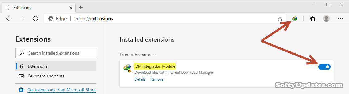 Add Internet Download Manager to Microsoft Edge