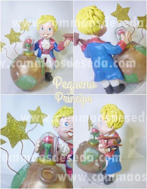 Topo de bolo Pequeno Príncipe
