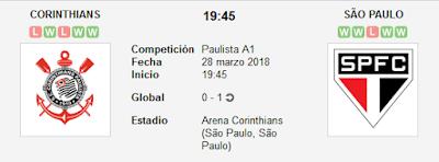 Corinthians vs Sao Paulo en VIVO
