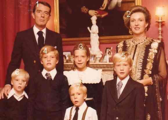 Duques de Badajoz y sus hijos