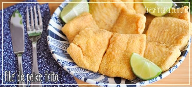 como fazer filé de peixe frito