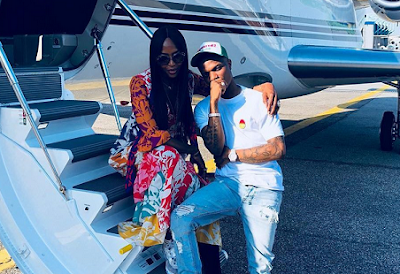Wizkid & Naomi Campbell Fly Private Jet