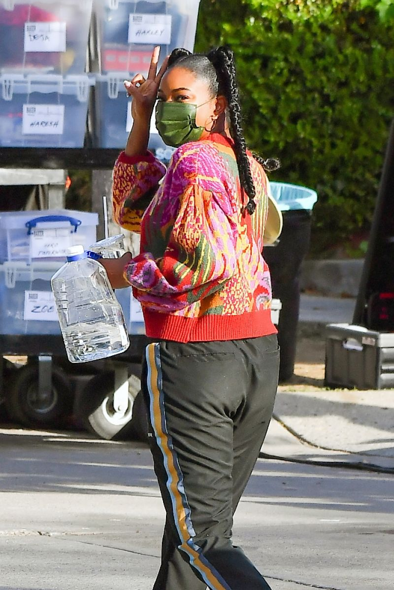 Gabrielle Union Clicked While Leaving  Cheaper by the Dozen Set in Los Angeles 15 Apr-2021