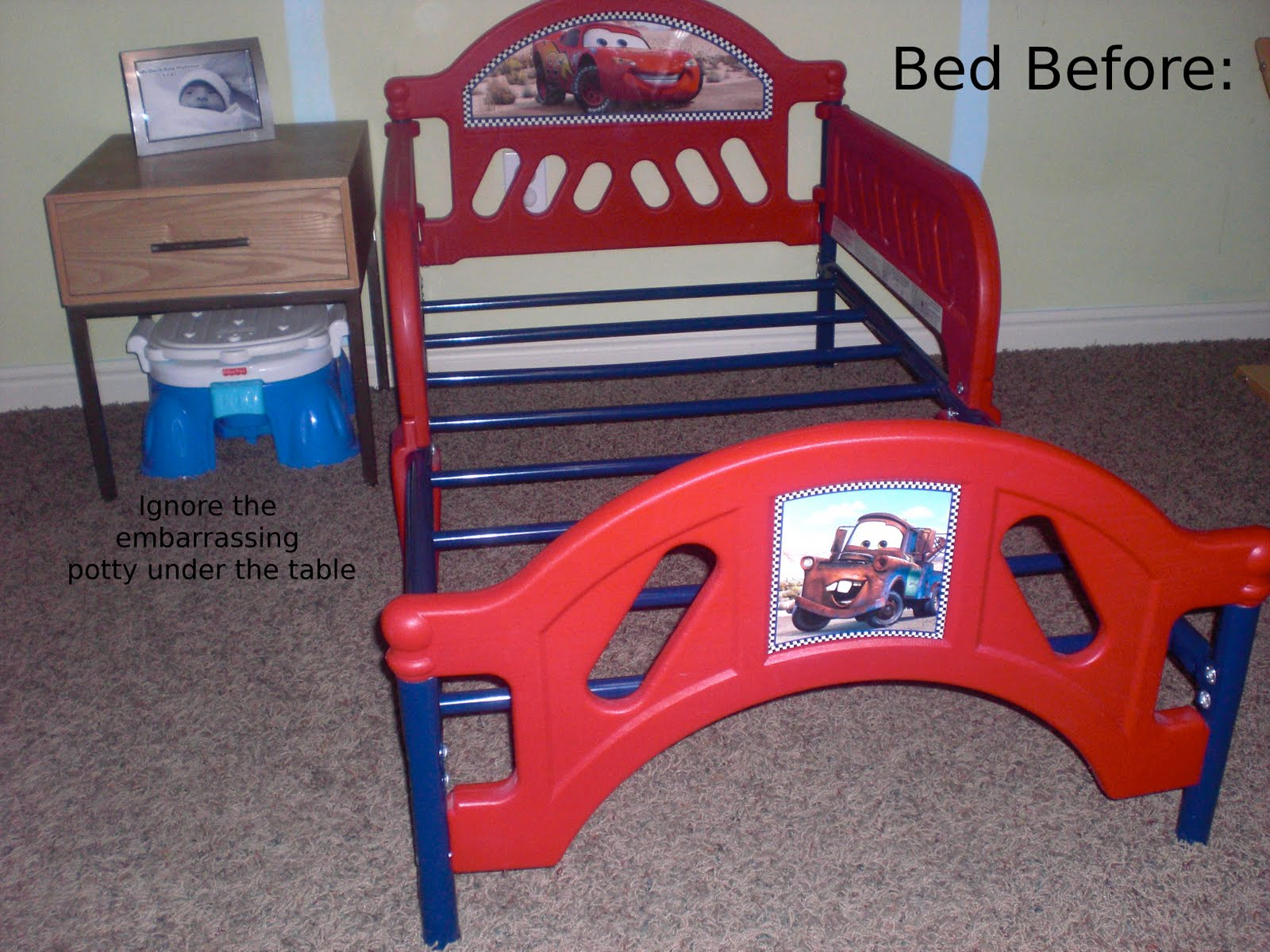 toddler bed makeover part two