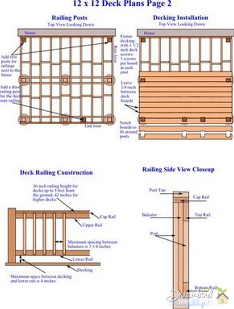 12 x 12 deck plans bing images for 10 x 8 deck plans