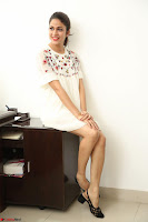 Lavanya Tripathi in Summer Style Spicy Short White Dress at her Interview  Exclusive 117.JPG