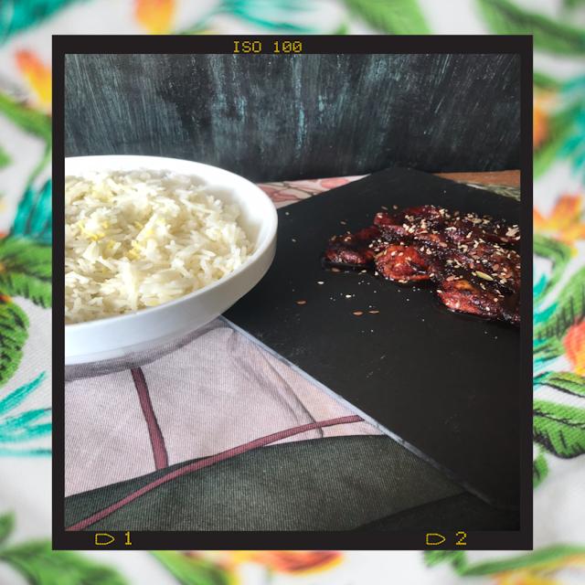 pollo-con-salsa-soja-y-arroz-basmati-receta-fácil