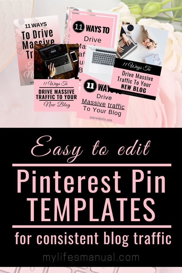 Pinterest Pin Templates for bloggers