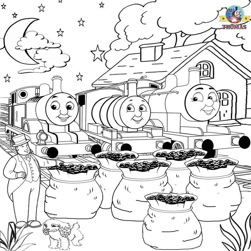 Free Printable Railway Pictures Thomas Scenery Drawing For ...