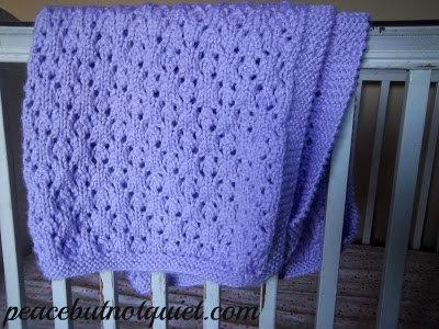 Knitting Patterns -- Snowflake Baby Blanket