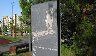 sinalização do Passadiço do Rio Tinto