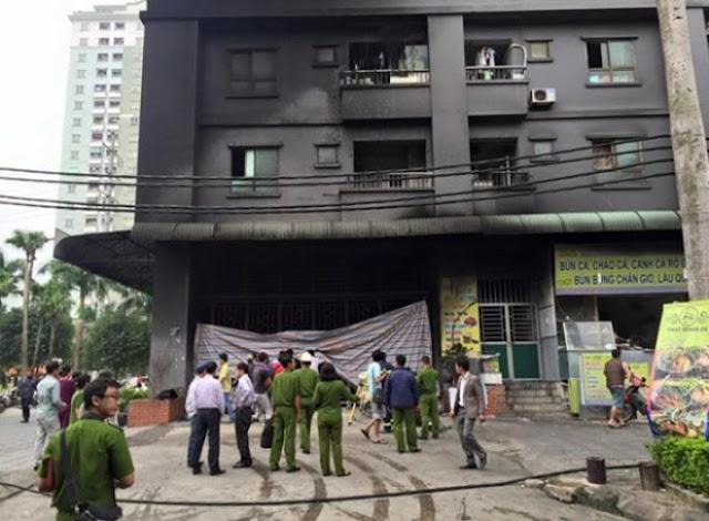 Cháy tại chung cư Xa La (Hà Đông – Hà Nội).