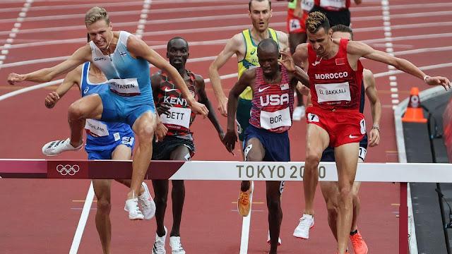 ميدالية ذهبية البقالي سباق 3000 متر موانع طوكيو