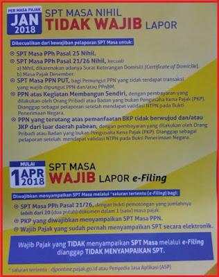 PMK 9 Tahun 2018 SPT PPh 21 dan PPN 1111 Wajib e-Filling 01 April 2018