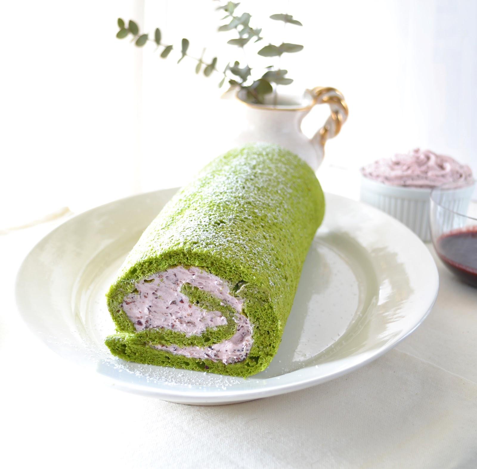 Matcha Green Tea Roll Cake Tasty
