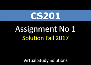CS201 Assignment No 1 Solution Fall 2017