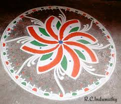 Indian rangoli designs with dots 2017