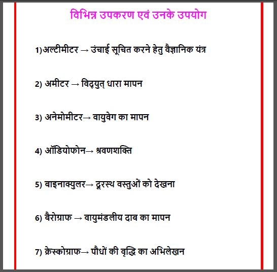 Various Tools And Their Uses : For All Competitive Exam Hindi PDF Book