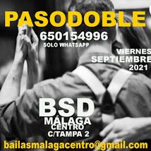 BAILA PASODOBLE EN SEPTIEMBRE EN BSD MÁLAGA CENTRO.