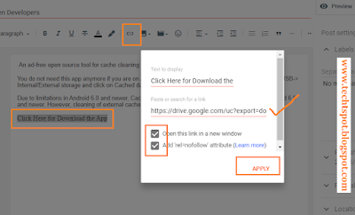 Add Direct Download Link in Blogger blog post 6